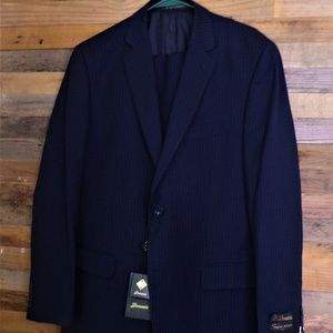 Other - New Blue Pin Strip Suit Jacket 40 R 34 Waist